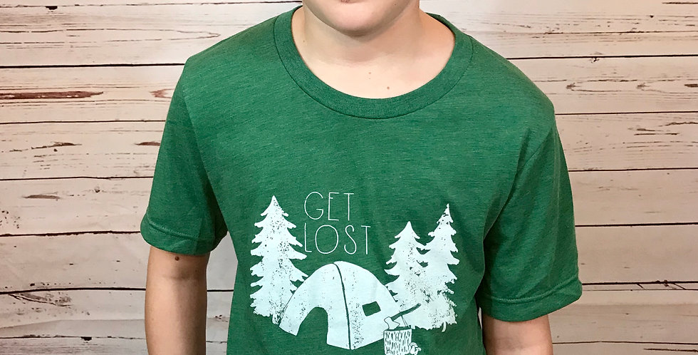 """""""Get Lost"""" Camping Unisex Tee"""