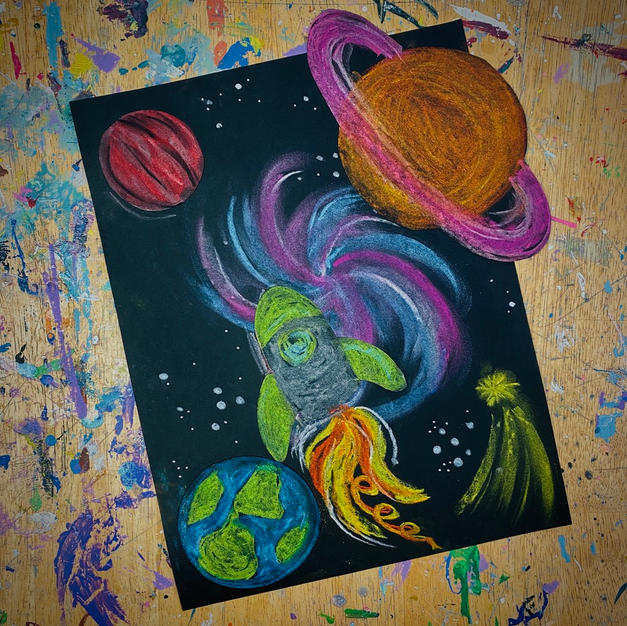Fun Galaxies with Pastels