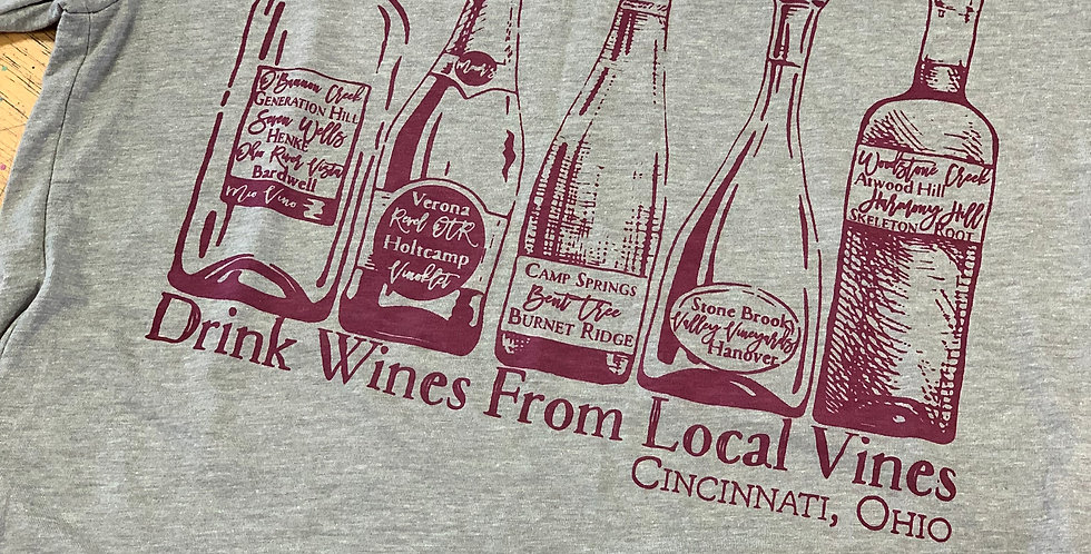 Drink Wines from Local Vines - Unisex Triblend Tee
