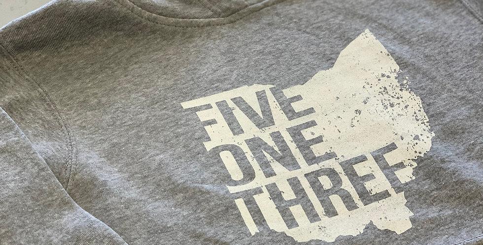 Five One Three Cincinnati Unisex TriBlend Fleece Hoodie