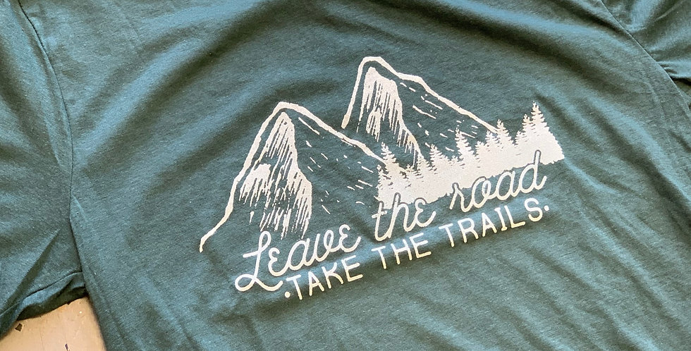 Leave the Road, Take the Trails - Unisex Triblend Tee