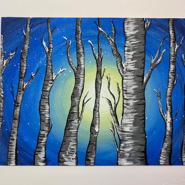 Birch Tree Mixed Media