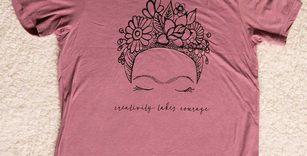 Creativity Takes Courage - Frida Inspired Unisex Tee