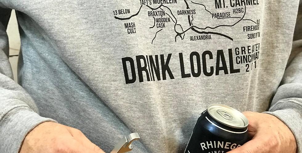 2020 Brewery Map Tailgate Hoodie - Built in Koozie & Bottle Opener!