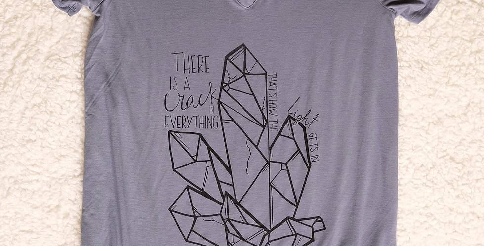 """There's a Crack in Everything """"Crystal"""" Ladies V-Neck"""