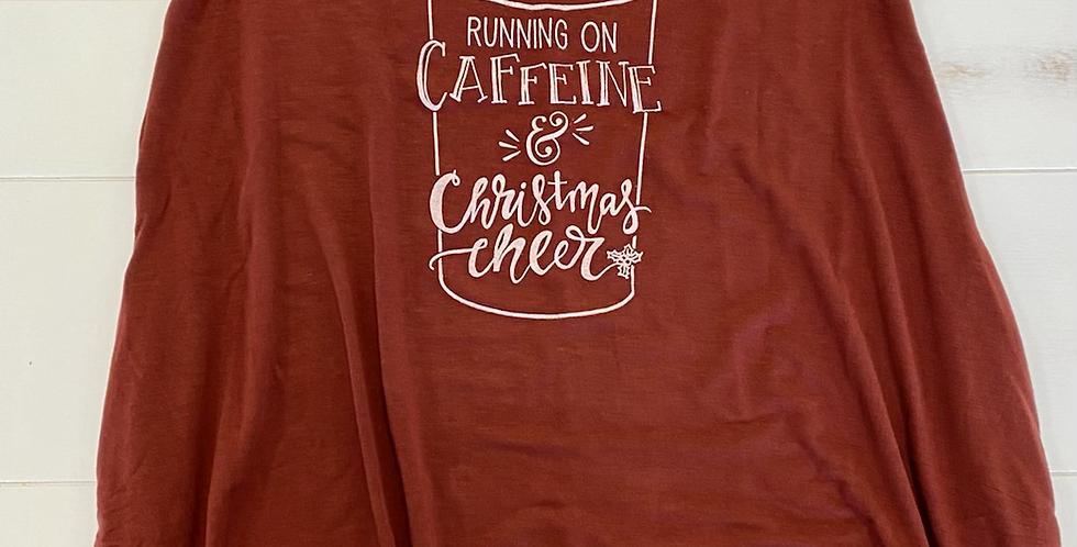 Caffeine and Christmas Cheer Ladies TUNIC