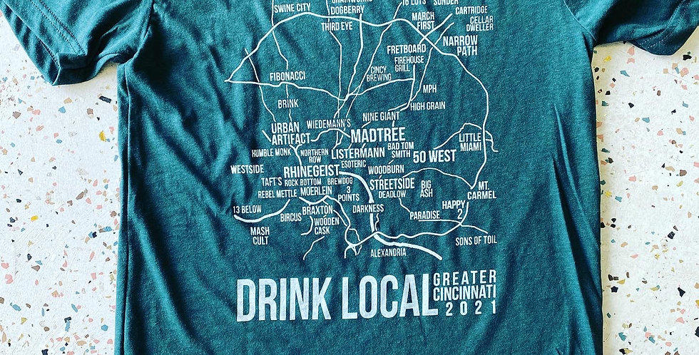 Brewery Map Unisex T Shirt 2021 edition