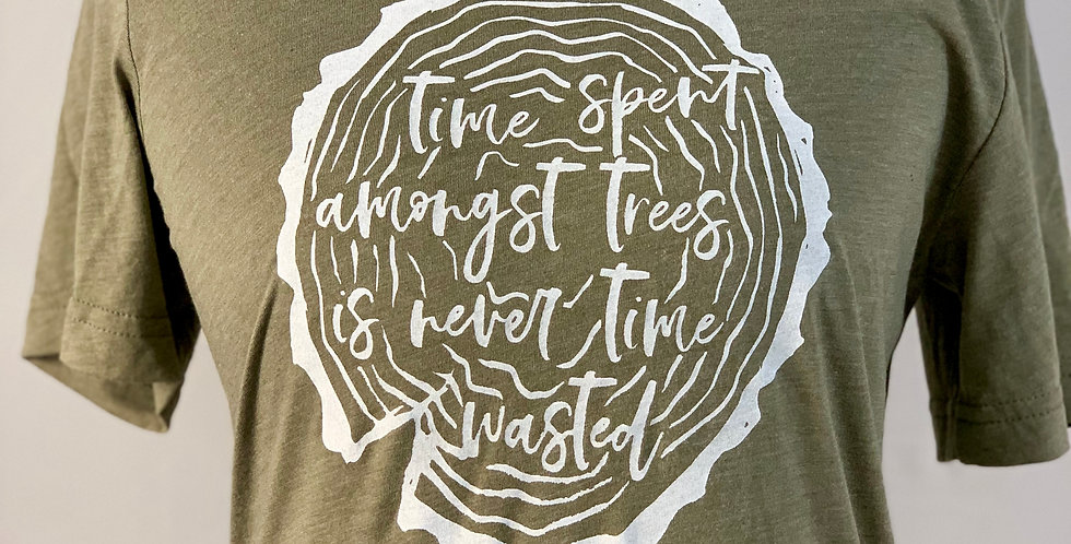 """Time Spent Amongst Trees"" - Unisex Triblend Tee"