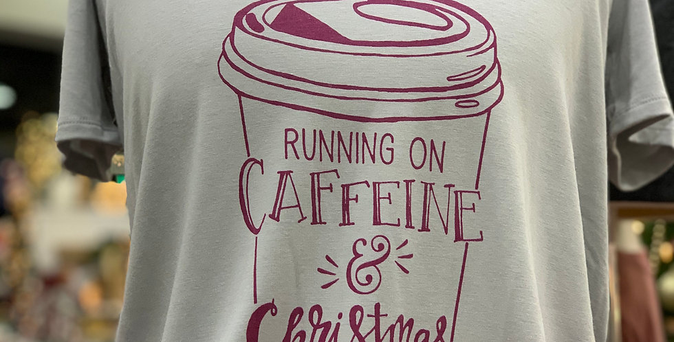 Caffeine and Christmas Cheer Ladies V-Neck