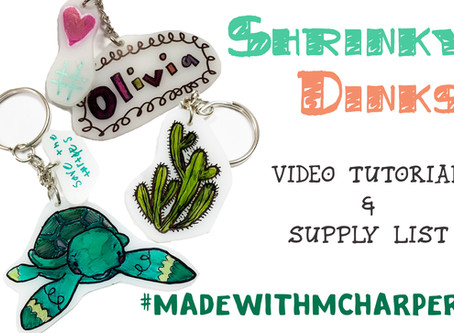 Shrinky-Dinks! Tutorial video and supplies!