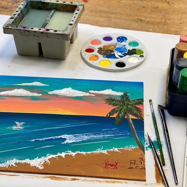Beach Acrylic Painting on Canvas