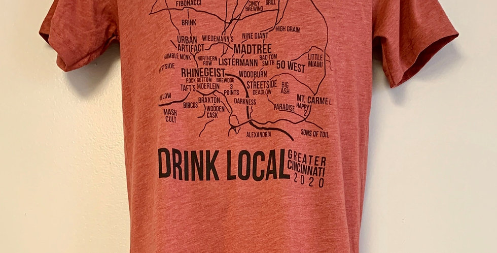 Brewery Map Unisex T Shirt 2020 edition
