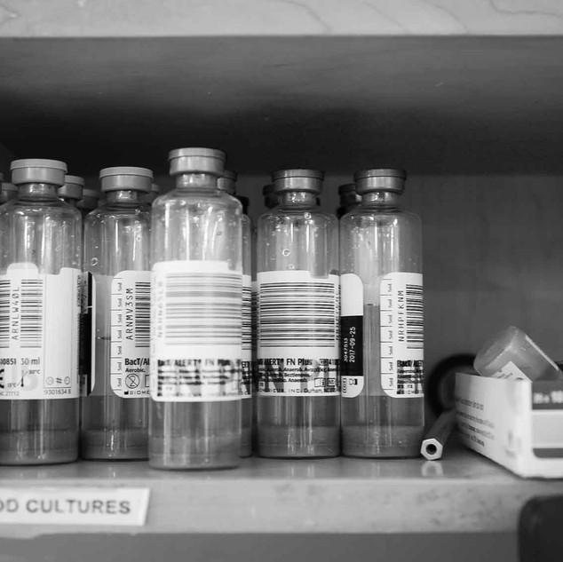 bacterial culture vials