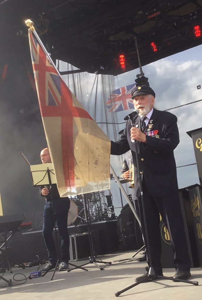 Jim with the first flag landed on June 6th 1944