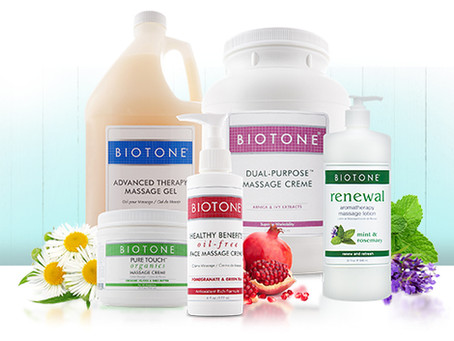 TOP FIVE BIOTONE  PRODUCTS TO CREATE A RELAXING MASSAGE FOR YOUR CLIENTS