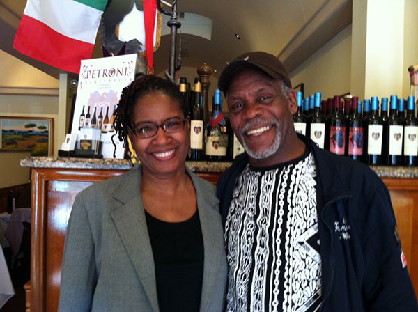 Gail Garnett, Executive Vice President and Chief Operations Officer of Stanfield Global with Danny Glover in San Francisco