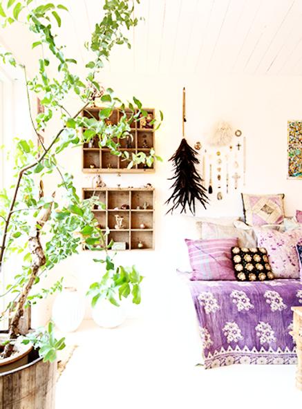 rum for sjælen indretning feng shui bolig rådgivning fjer kors balance sofa