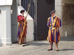 Jan 22  - Swiss Guard arrive at Vatican