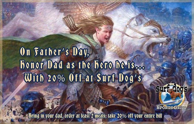 Celebrate Father's Day at Surf Dog's Spo