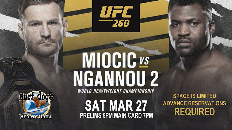UFC 260 at Surf Dog's Sports Grill
