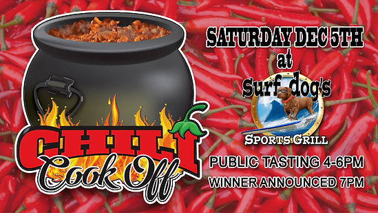 CHILI COOK OFF AT SURF DOG'S