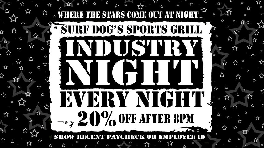 Industry Nights at Surf Dog's Sports Gri