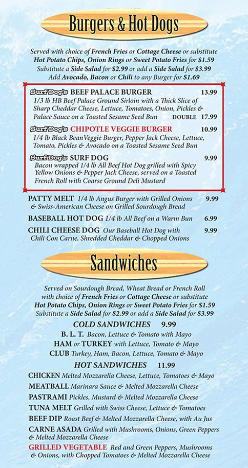 Surf Dog's Sports Grill Menu p4
