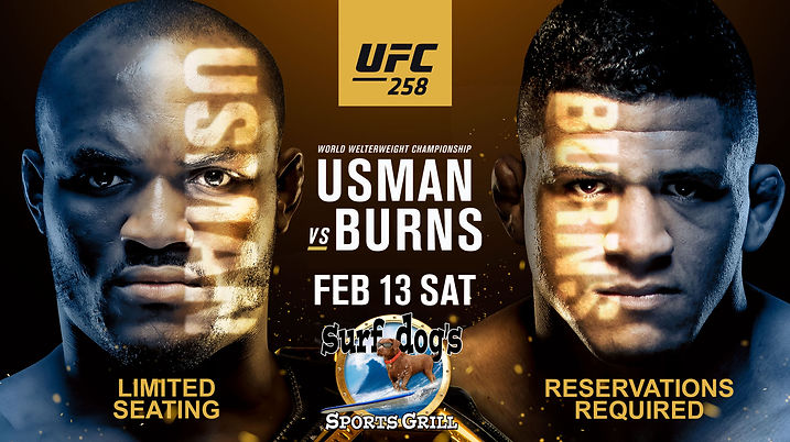 UFC 258 at Surf Dog's Sports Grill
