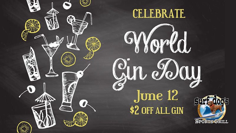 Celebrate World Gin Day at Surf Dog's Sp