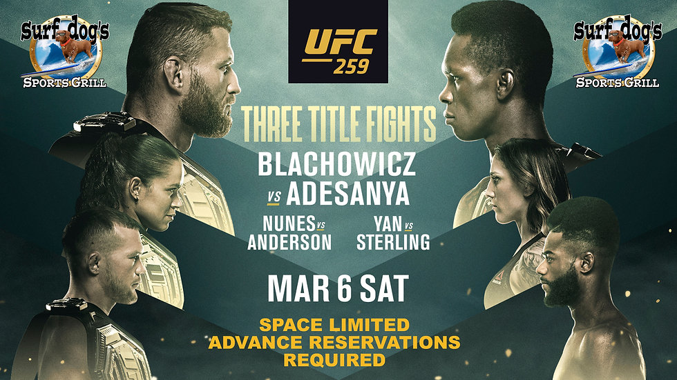 UFC 259 at Surf Dog's Sports Grill
