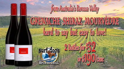 Barossa Valley GSM at Surf Dog's Sports
