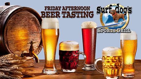 Friday Beer Tasting at Surf Dog's Sports