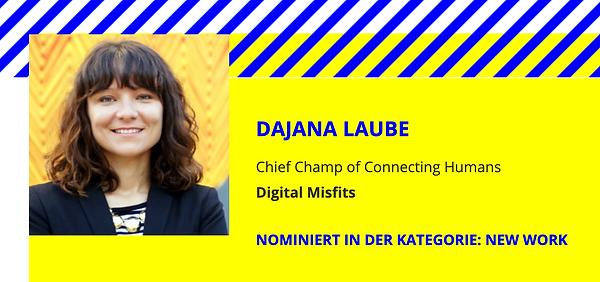 "Dajana Laube Chief Champ of Connecting Humans Digital Misfits DFLA 2021 ""New Work"" by GDW"