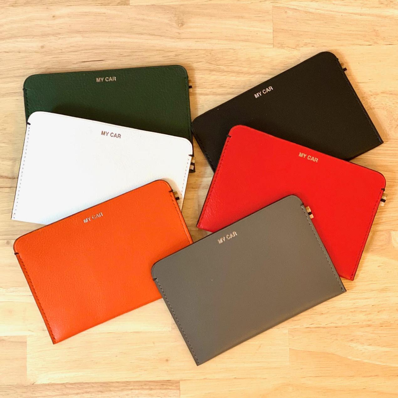 MY CAR - MLS-MarieLaurenceStevigny slim leather wallet in six colors
