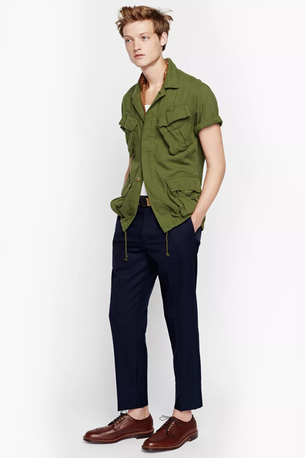 Army shirt from J.Crew for men