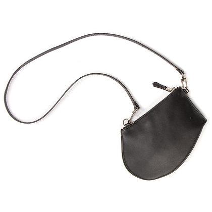 Zip Medium - Black Leather