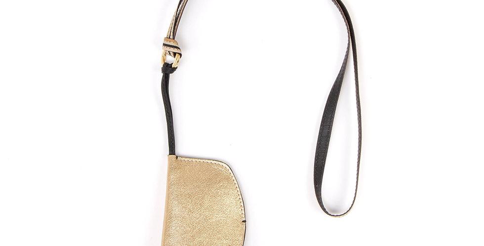 Neck key holder - Pocket - Gold