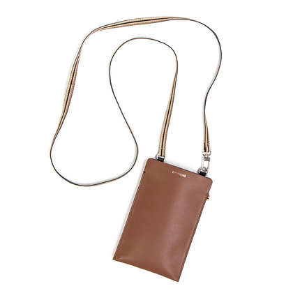 Phone Bag - Tan Leather