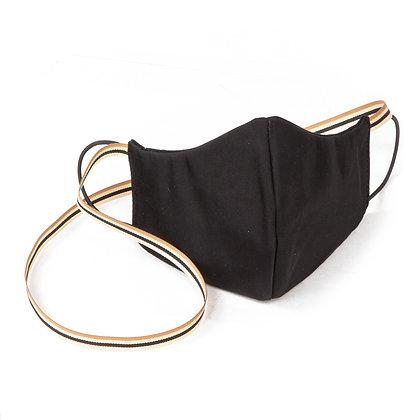 Unisex designer face mask accessory - Plain Black