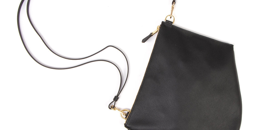 Crossbody pouch - Zip XL - Gold details