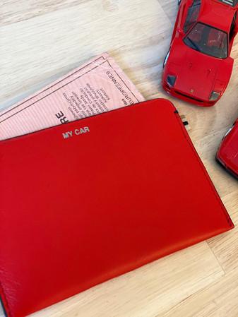 MY CAR - MLS-MarieLaurenceStevigny slim red leather wallet