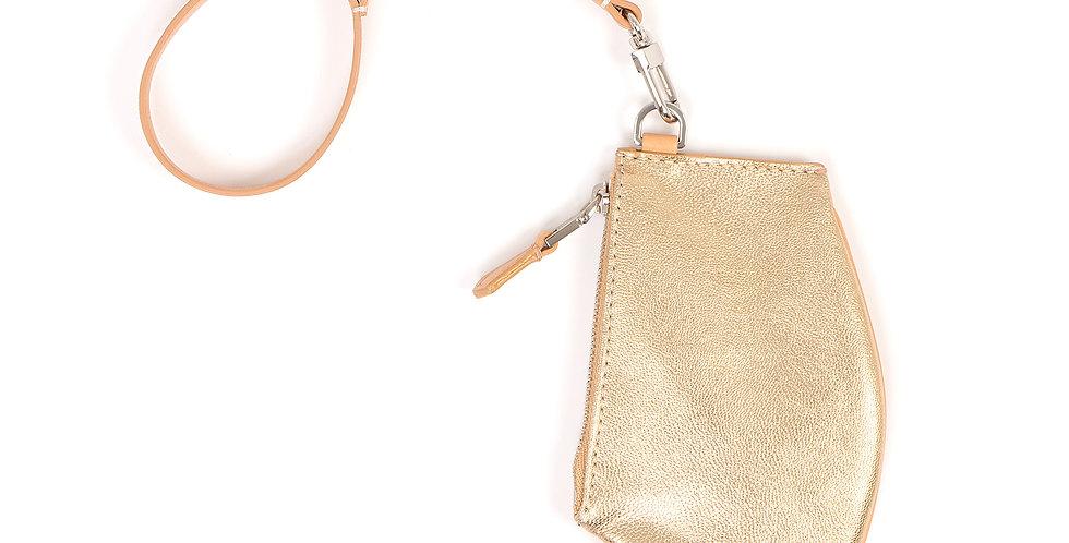 Petite pochette - Zip Micro - Or naturel