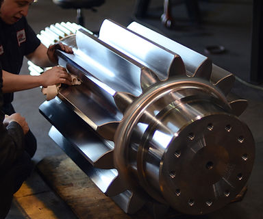 Man working on a gear
