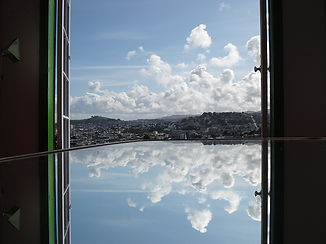 Image of clouds reflected in mirror - Oaklad Therapist, EMDR Therapist, Women