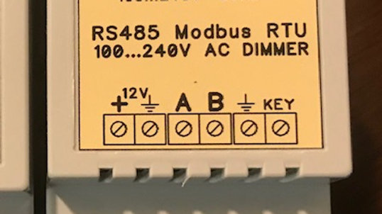 RS-485  controlled 110-120 VAC  INCANDESCANT Dimmer