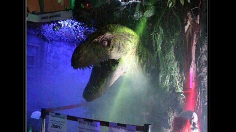 Animatronic T-rex head