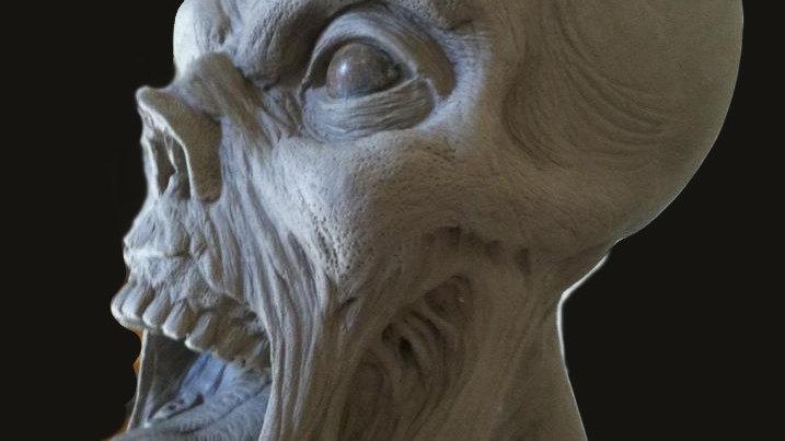 Monster Head sculptures Oversized