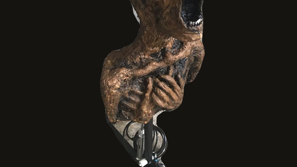 90'degree flipper mechanism with rotten corpse bust