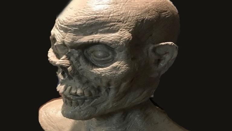 Monster Head Sculptures