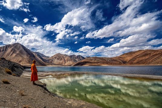 Saurabh Sirohya - Monk at Pangong Tso Lake, India